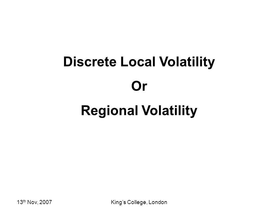 Discrete Local Volatility