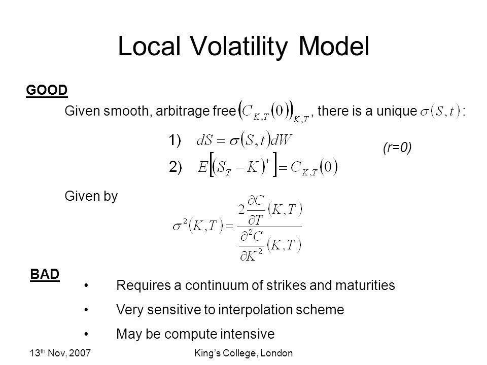 Local Volatility Model