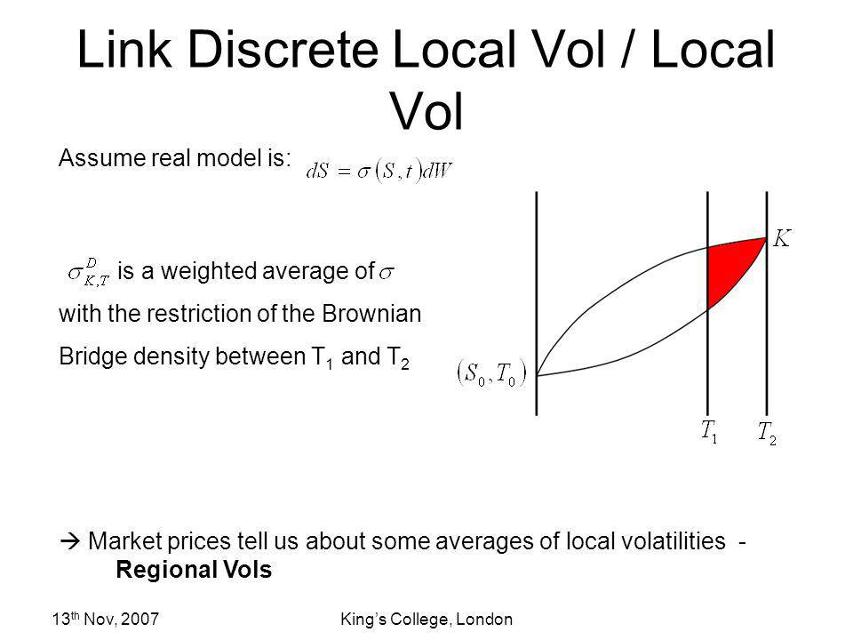 Link Discrete Local Vol / Local Vol