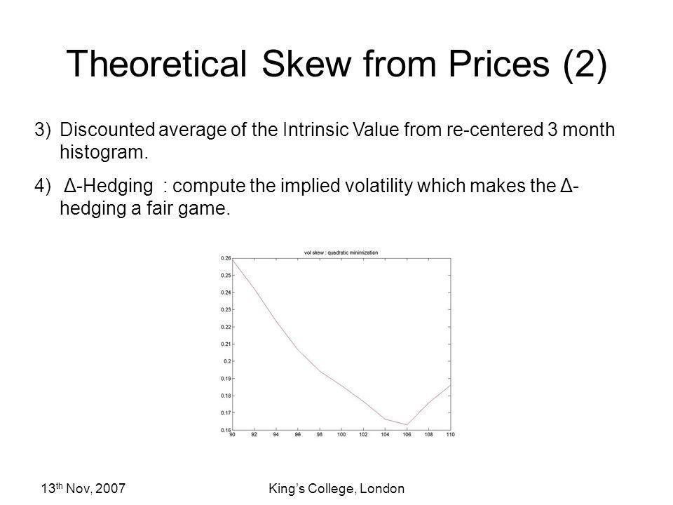 Theoretical Skew from Prices (2)