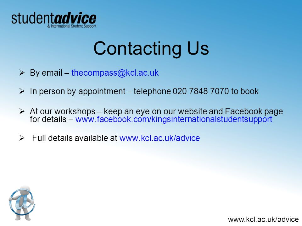 Contacting Us By email – thecompass@kcl.ac.uk