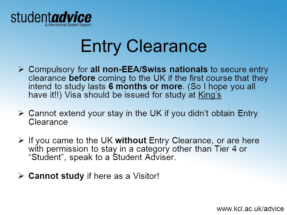Entry Clearance
