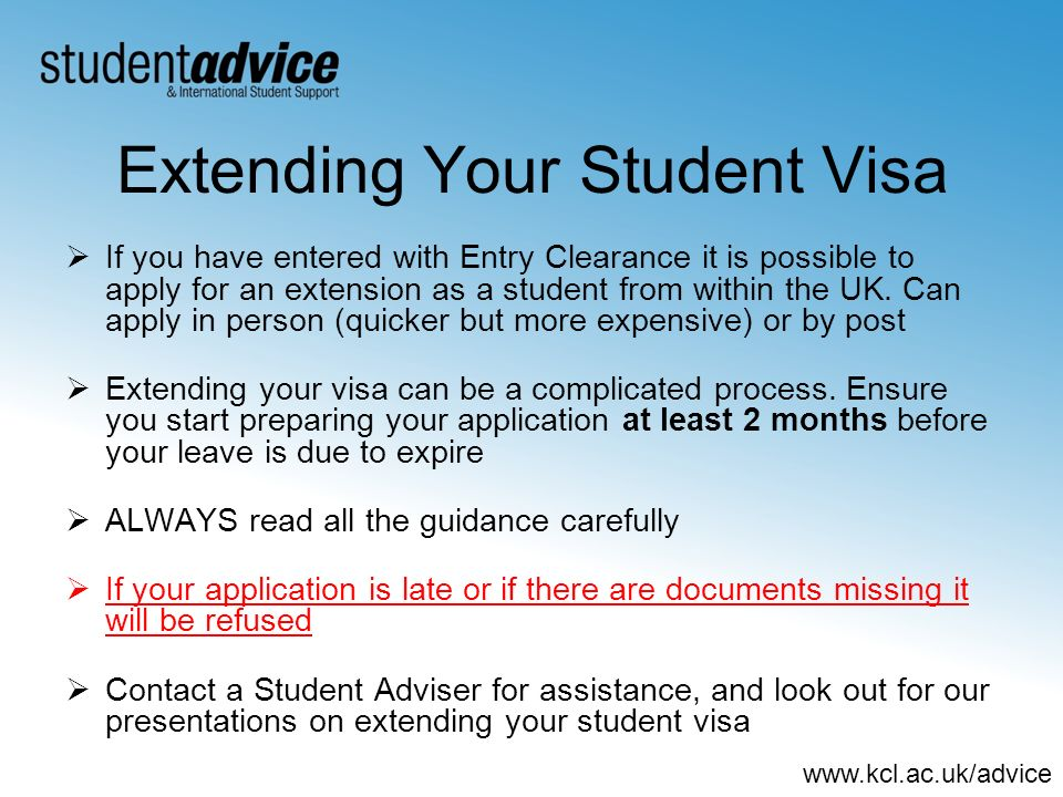 Extending Your Student Visa