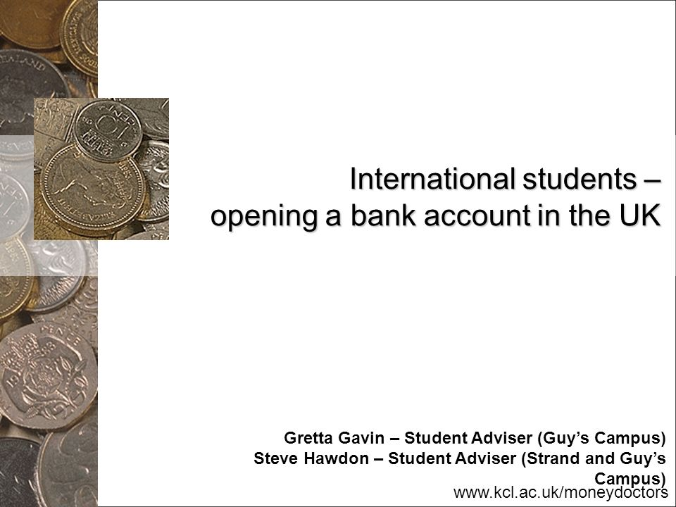 International students – opening a bank account in the UK