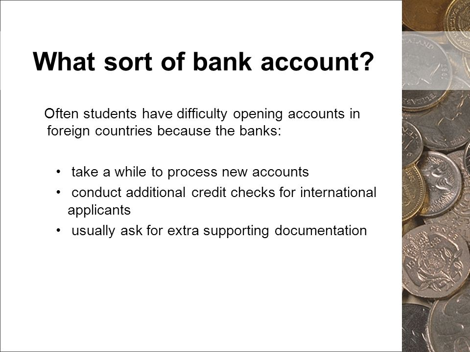 What sort of bank account