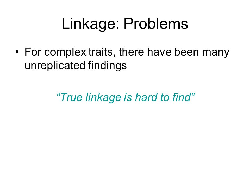 True linkage is hard to find