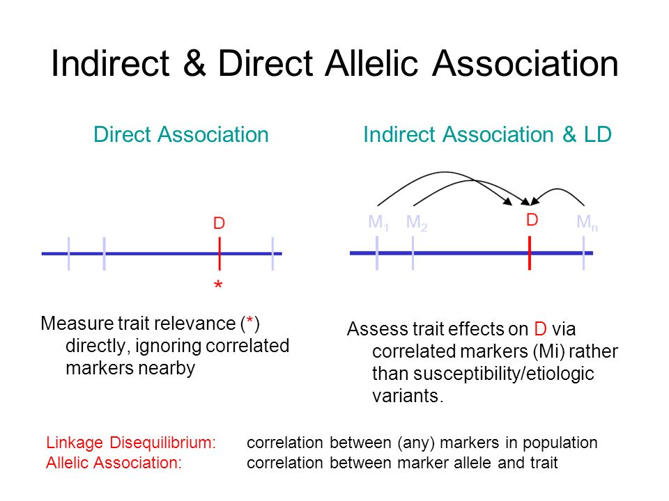 Indirect & Direct Allelic Association