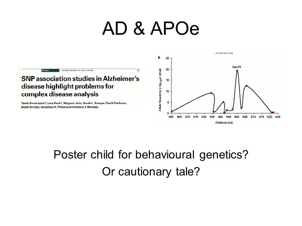 Poster child for behavioural genetics