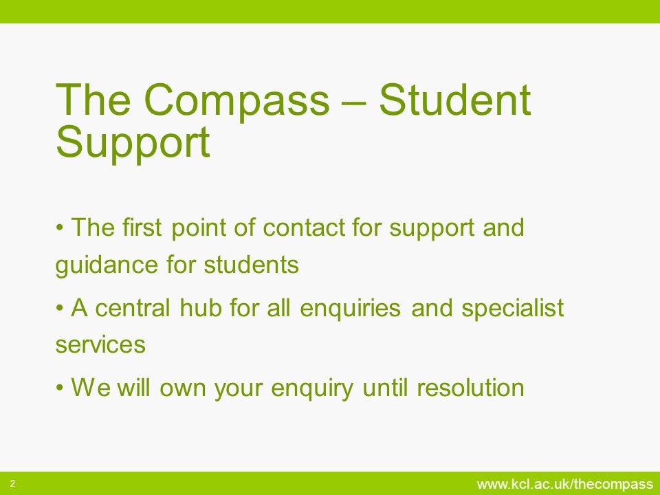 The Compass – Student Support