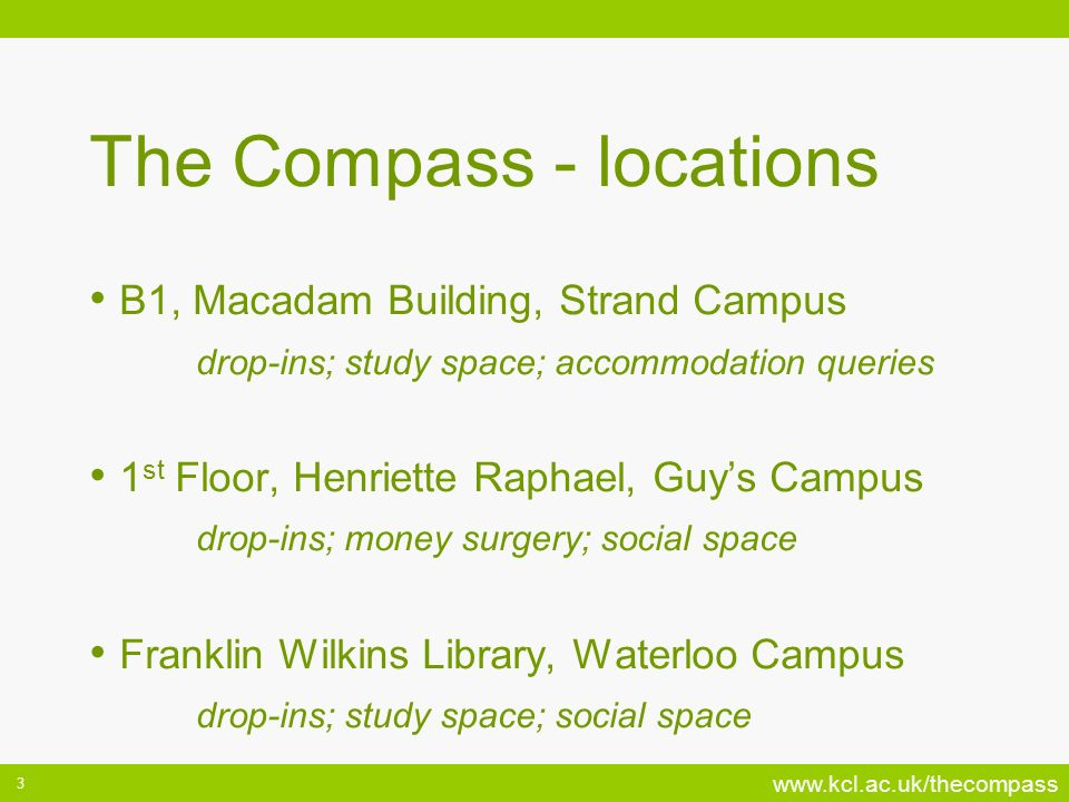 The Compass - locations