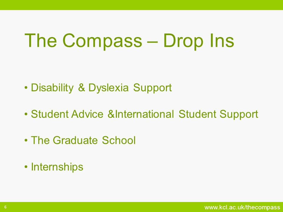 The Compass – Drop Ins Disability & Dyslexia Support