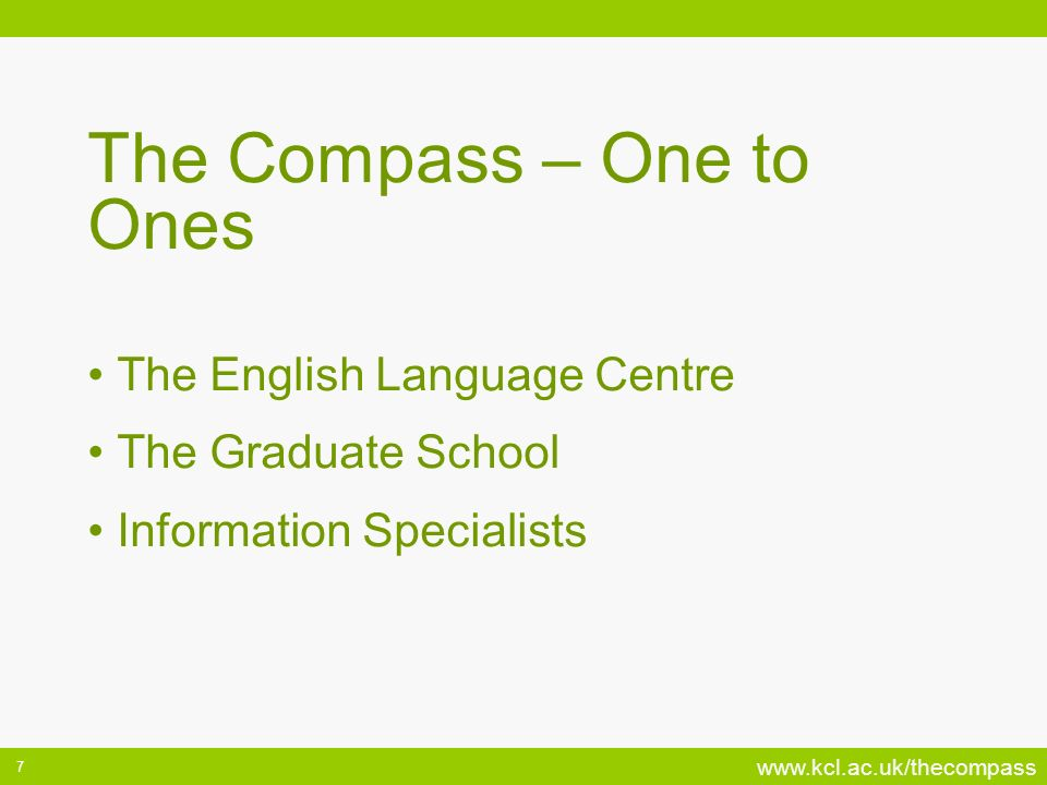 The Compass – One to Ones
