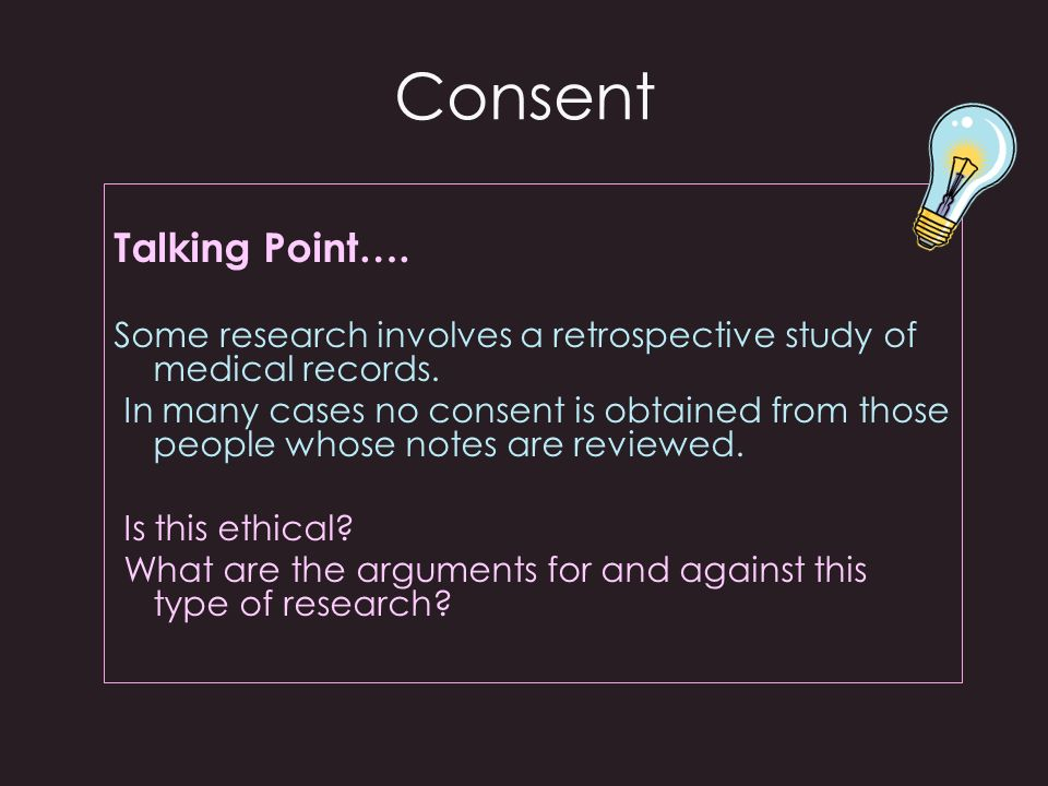 Consent Talking Point….