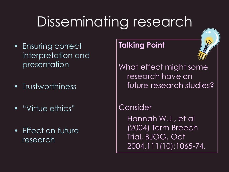 Disseminating research