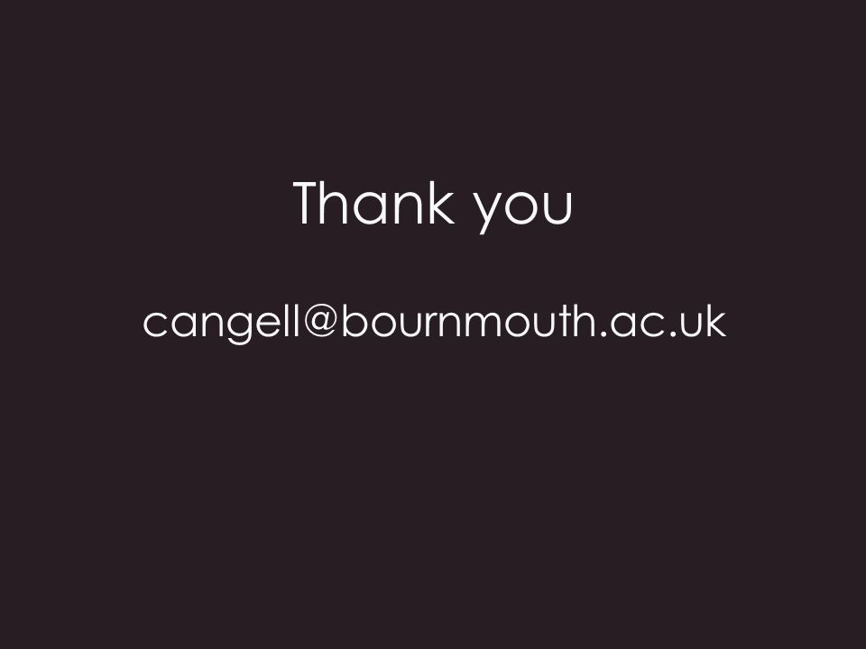 Thank you cangell@bournmouth.ac.uk