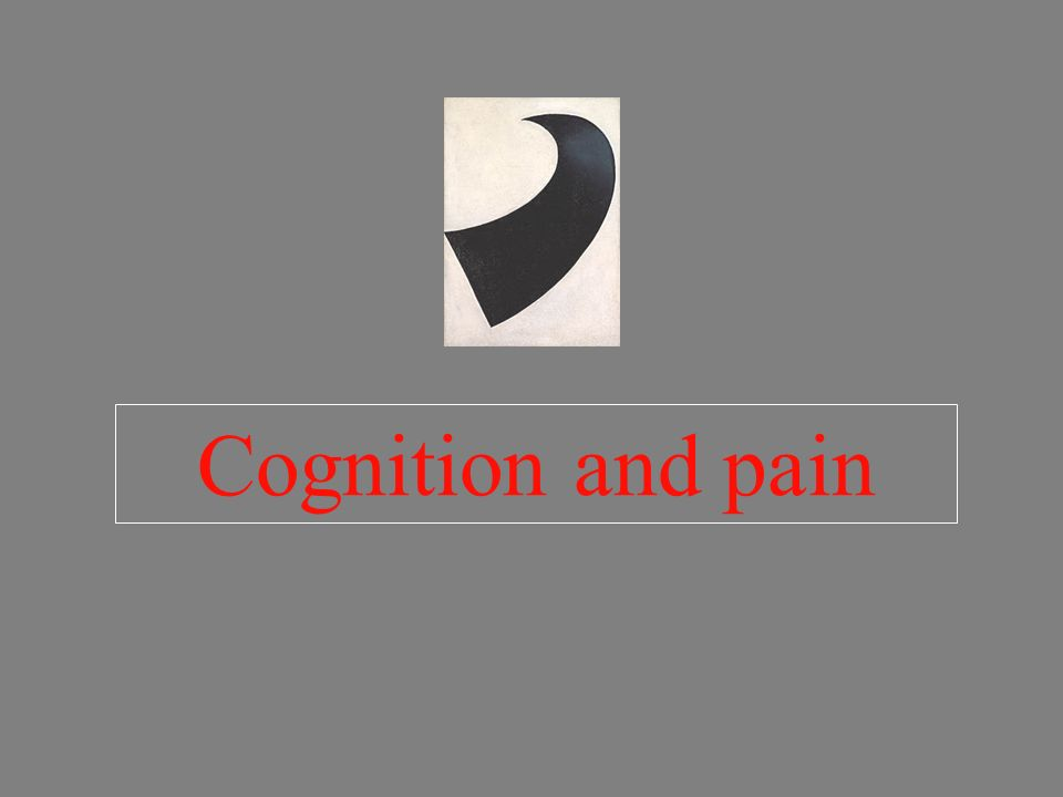 Cognition and pain