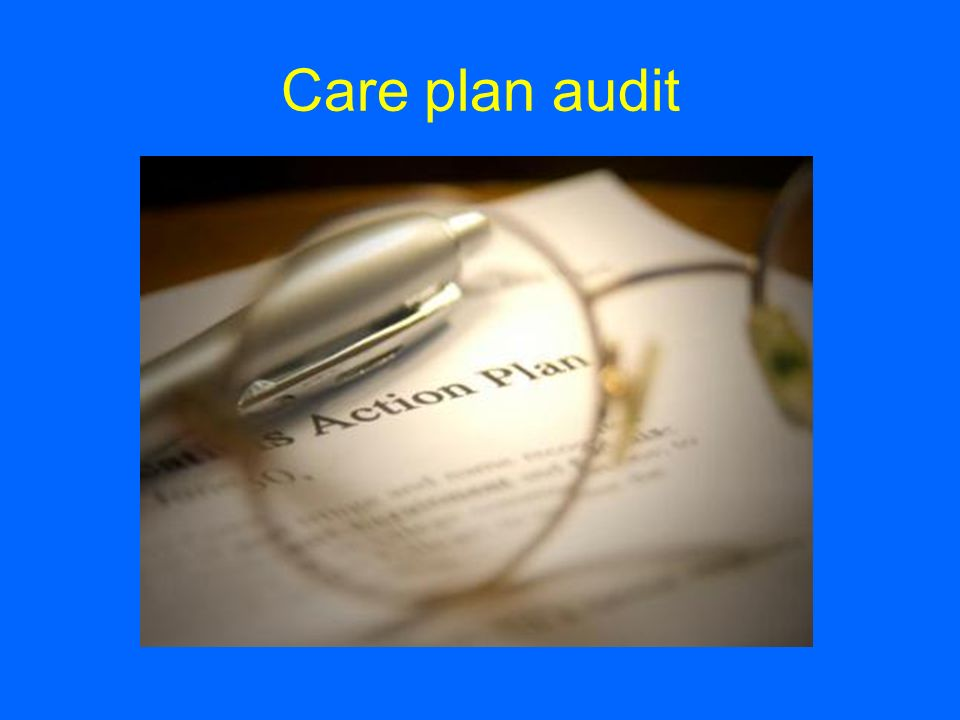 Care plan audit