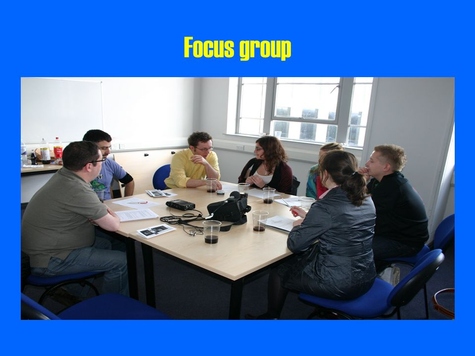 Focus group Bit about participants – 6 social workers from the law team, considered most experienced, with most expertise.
