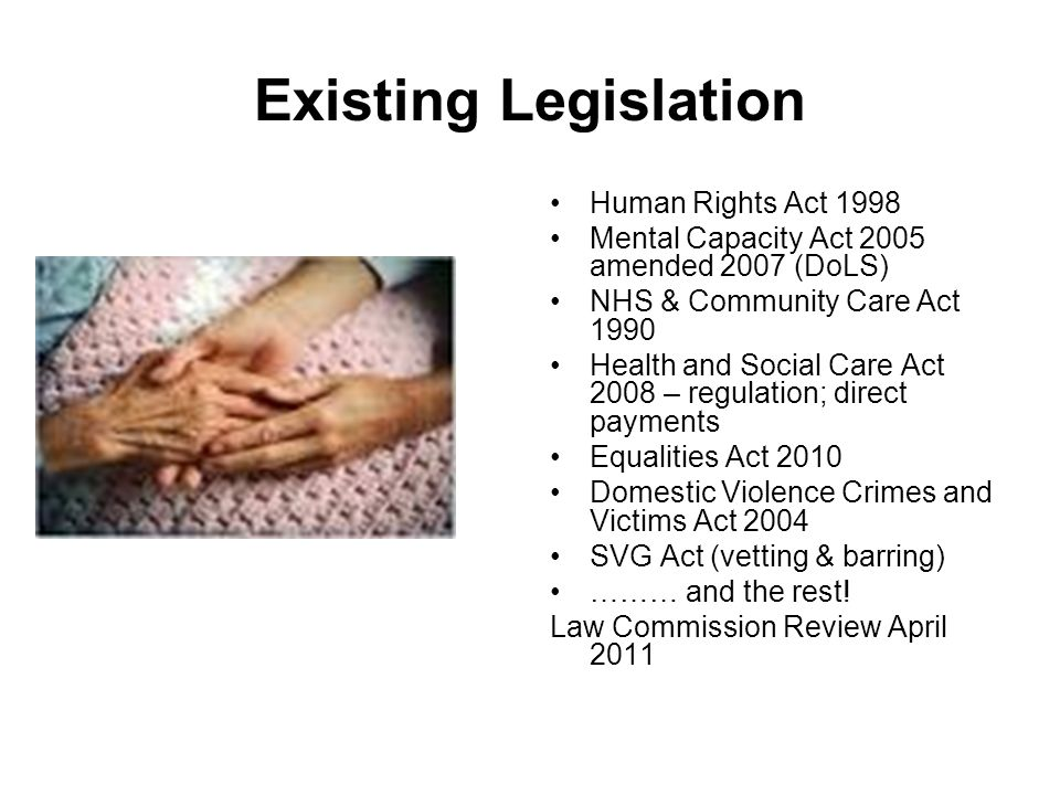 Existing Legislation Human Rights Act 1998