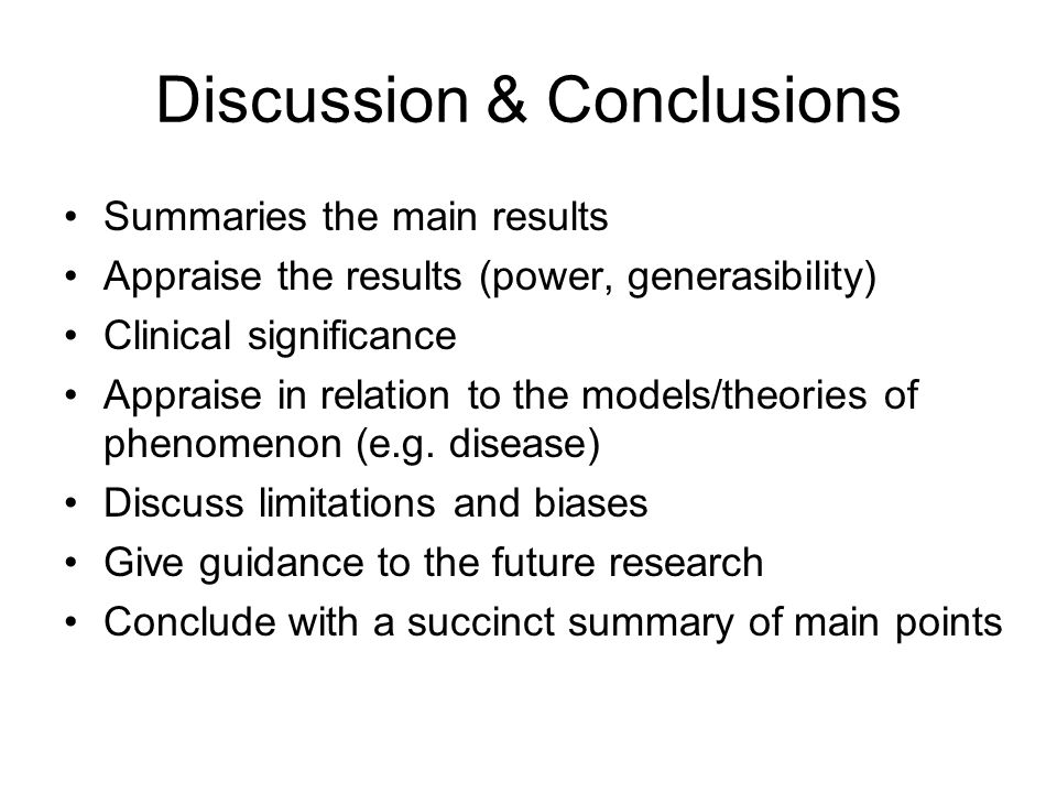 Discussion & Conclusions