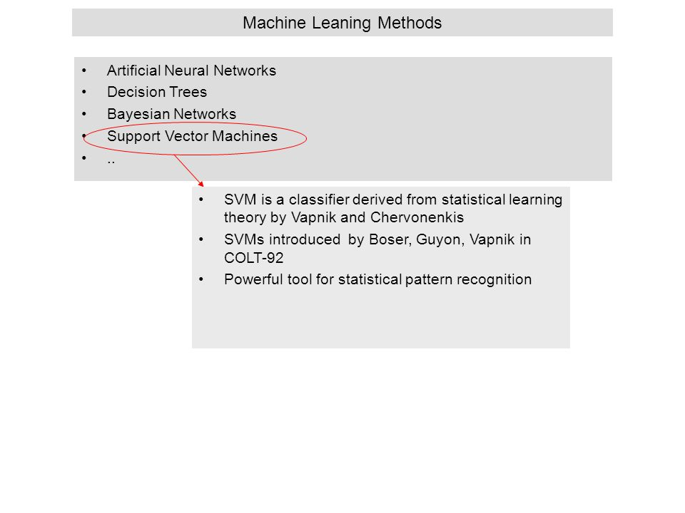 Machine Leaning Methods