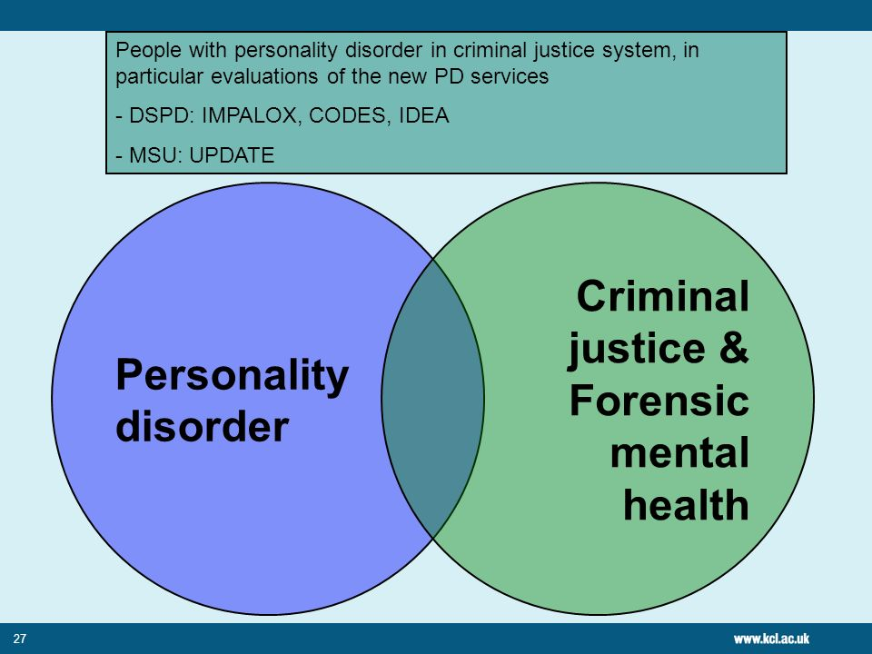 Criminal justice & Forensic mental health