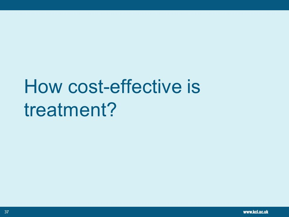 How cost-effective is treatment
