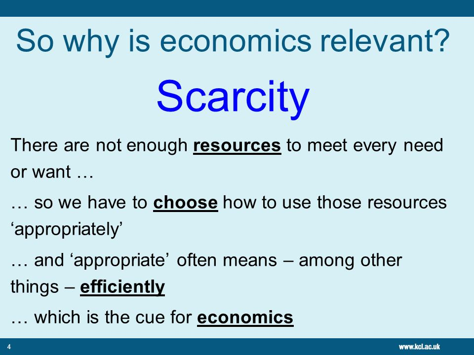 So why is economics relevant