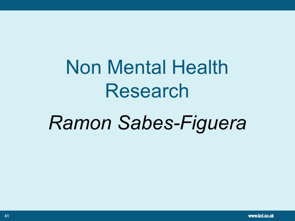 Non Mental Health Research