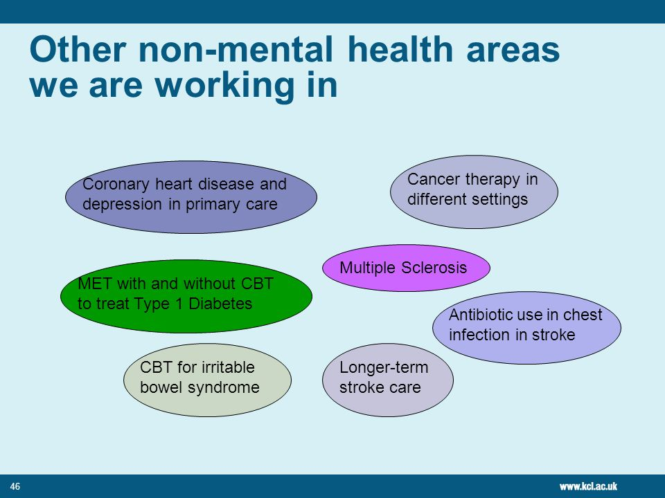 Other non-mental health areas we are working in