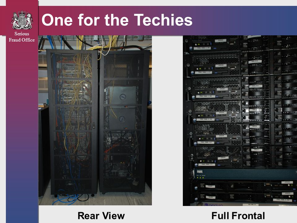 One for the Techies Rear View Full Frontal