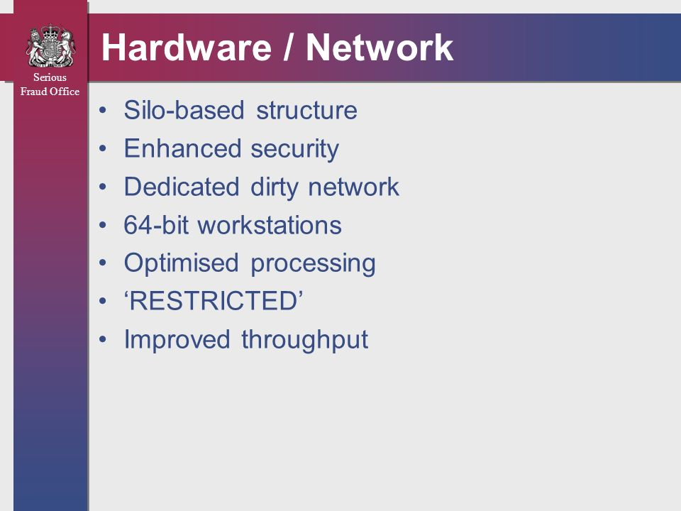 Hardware / Network Silo-based structure Enhanced security