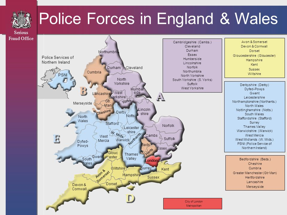 Police Forces in England & Wales