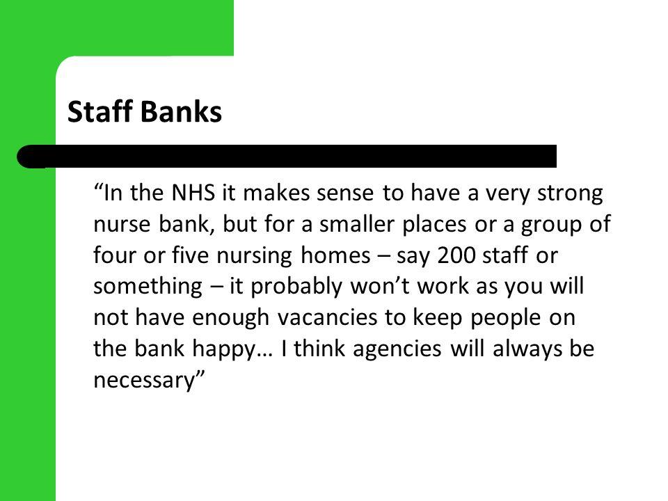 Staff Banks
