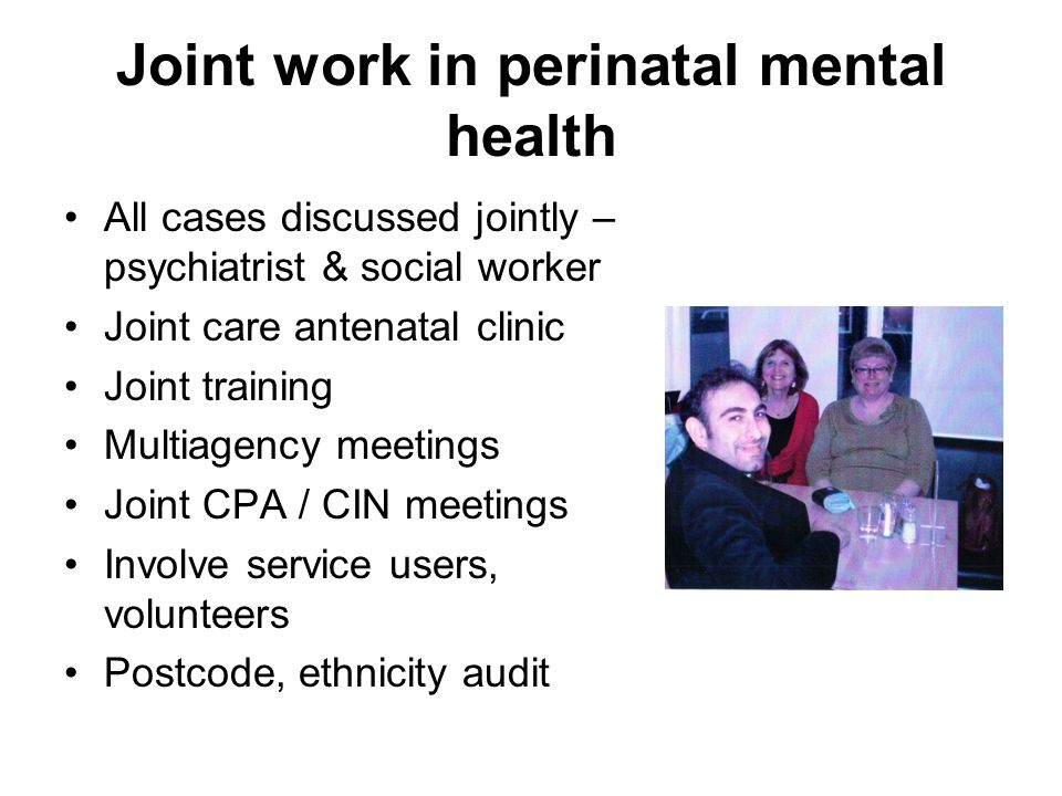 Joint work in perinatal mental health