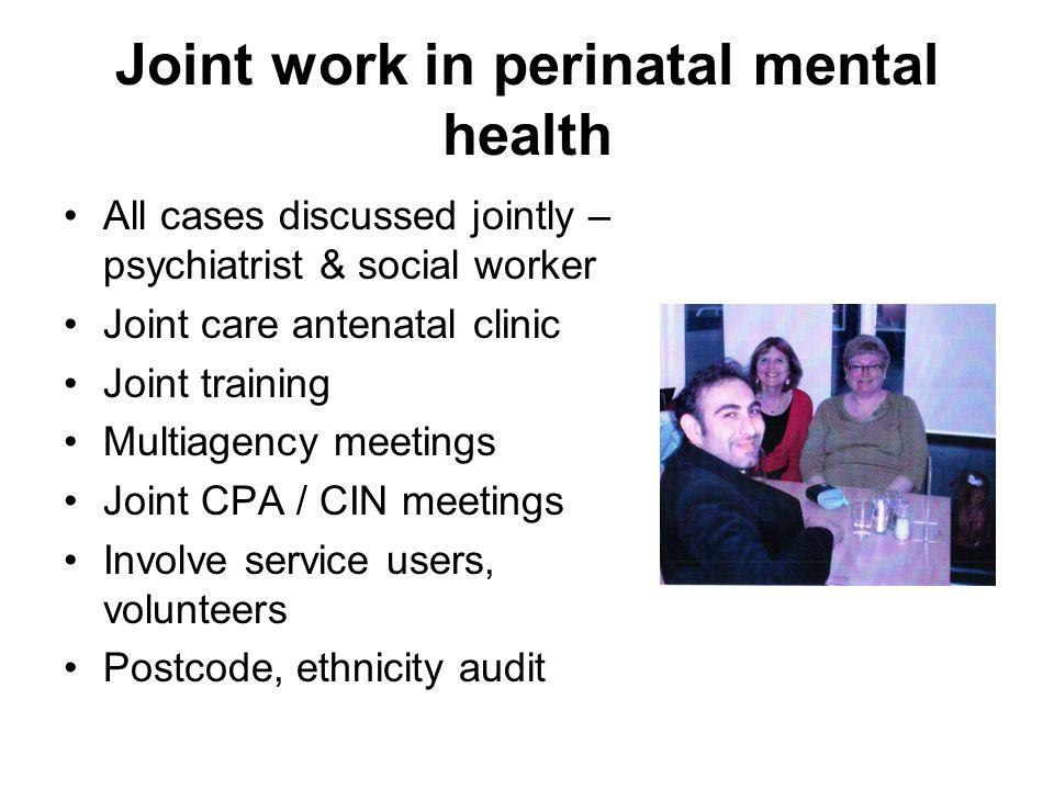 Joint work in perinatal mental health