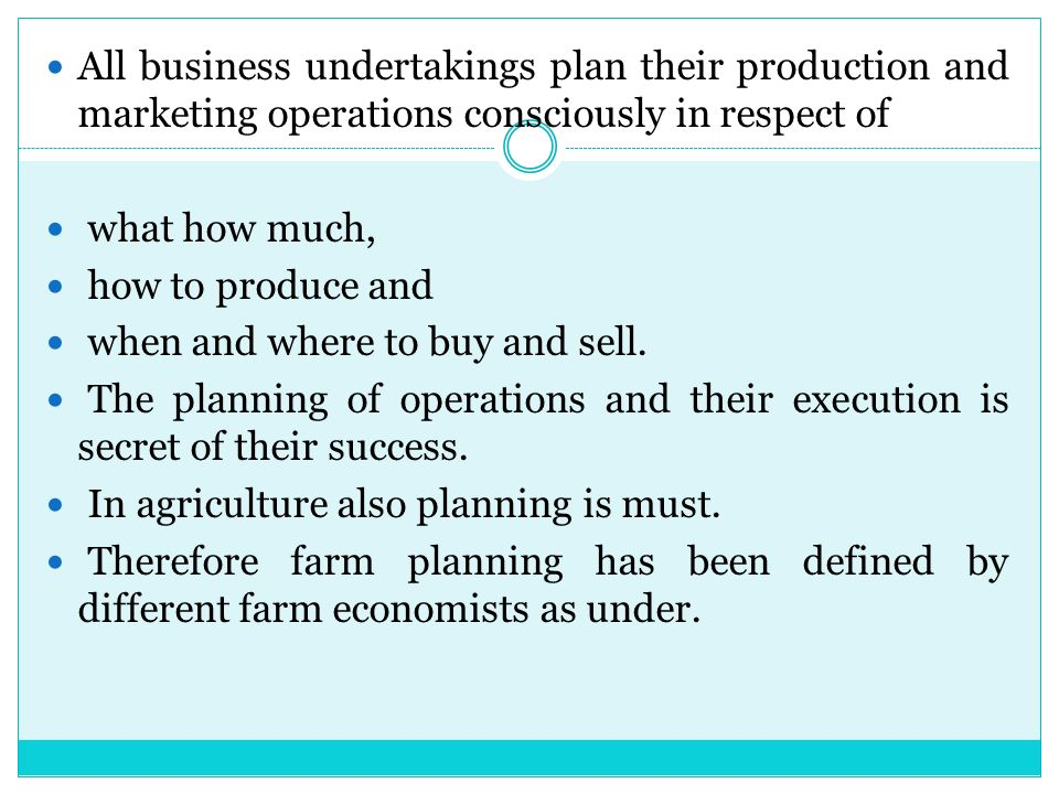 farm planning and budgeting pdf