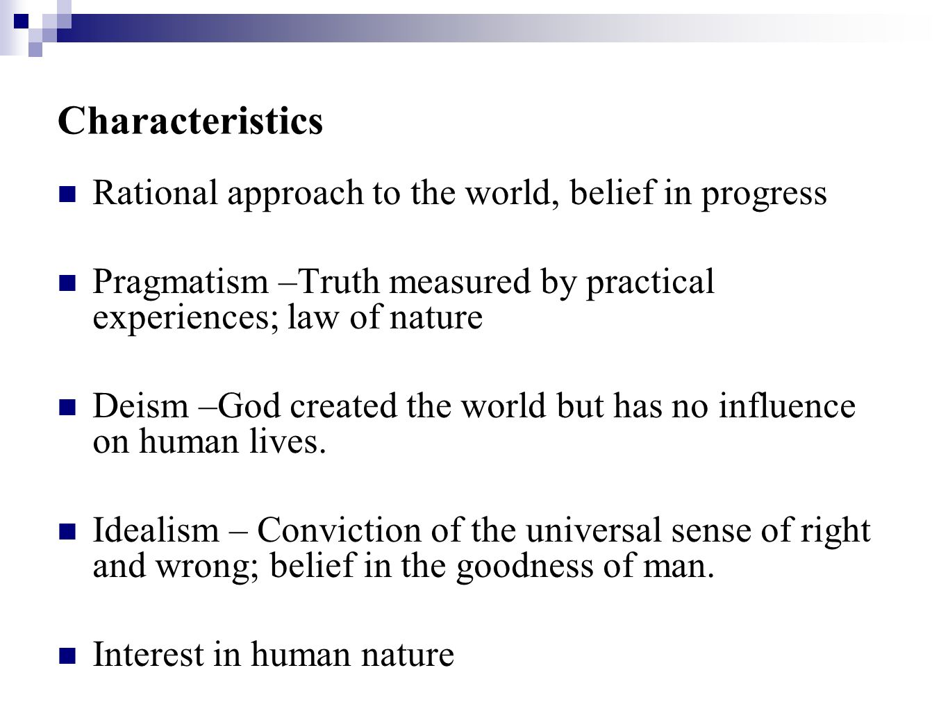 rationalist approaches essay