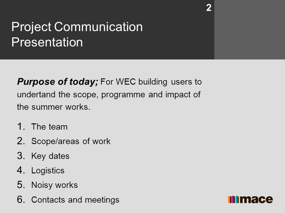 Project Communication Presentation
