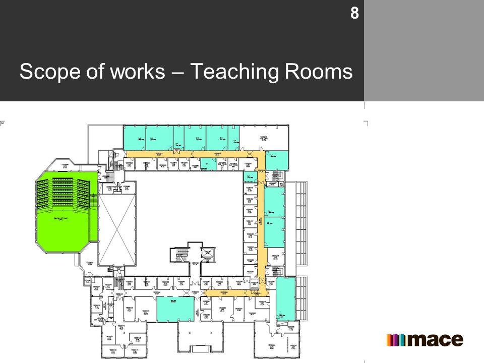 Scope of works – Teaching Rooms