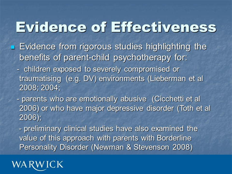 Evidence of Effectiveness