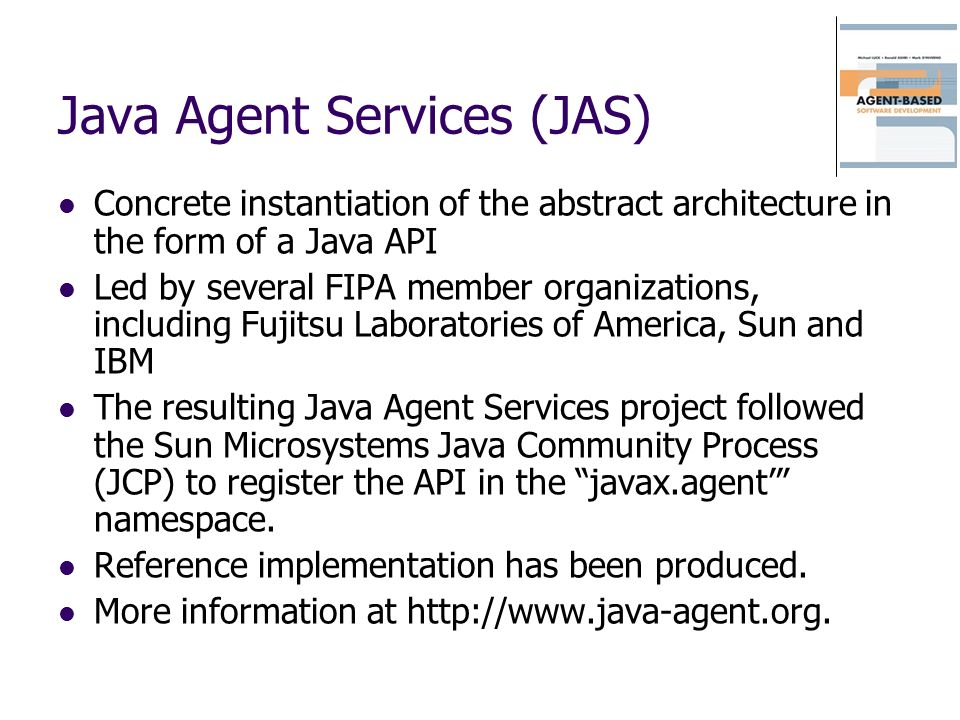 Java Agent Services (JAS)