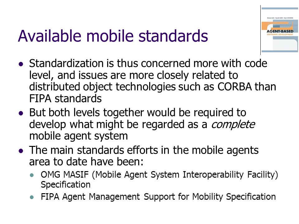Available mobile standards