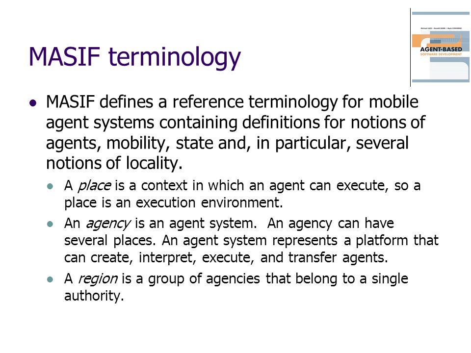MASIF terminology