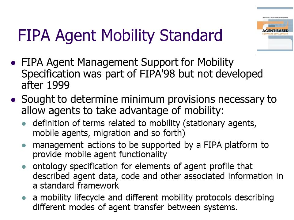 FIPA Agent Mobility Standard