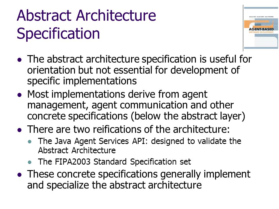 Abstract Architecture Specification