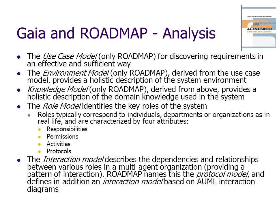 Gaia and ROADMAP - Analysis