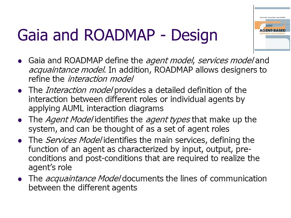 Gaia and ROADMAP - Design