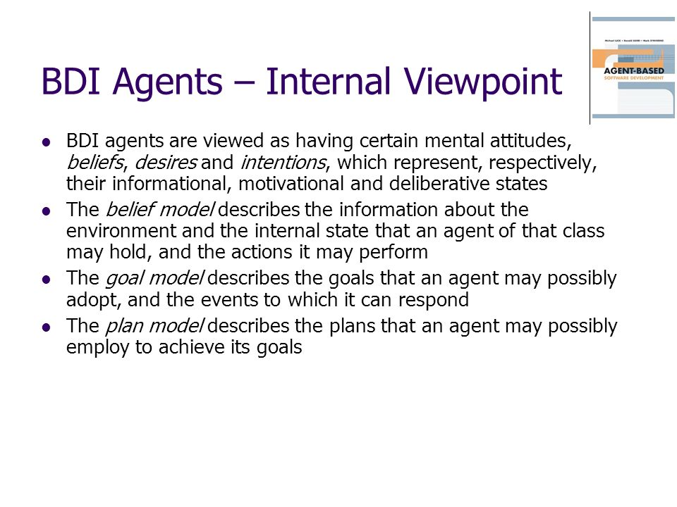 BDI Agents – Internal Viewpoint