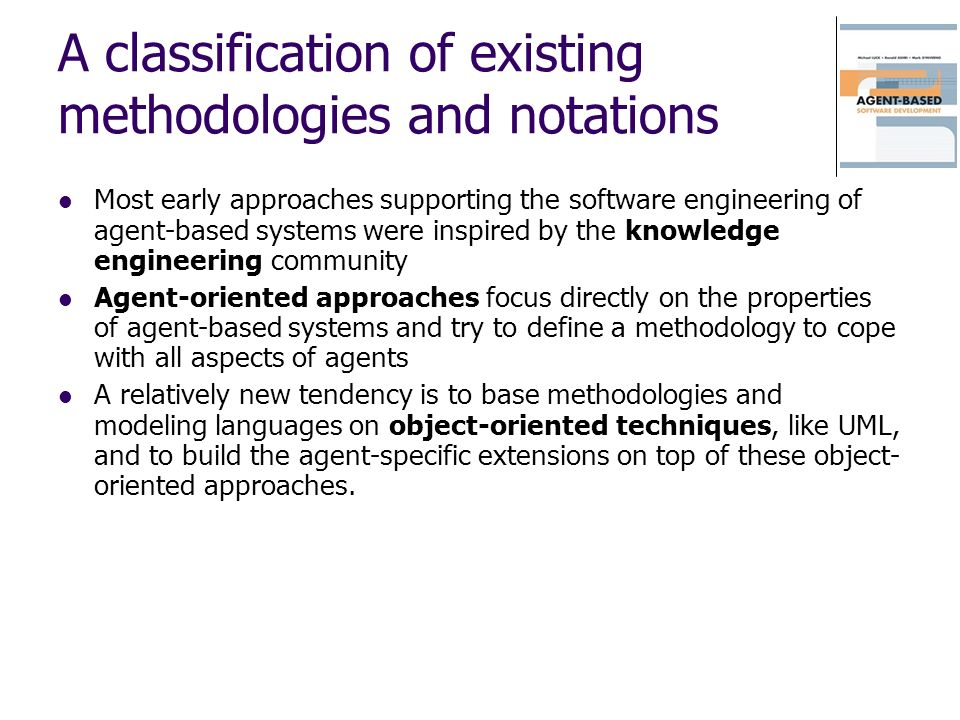 A classification of existing methodologies and notations